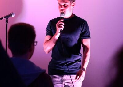 Der Moderator Sebastian Messerschmidt